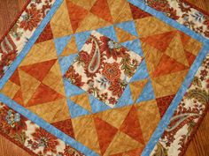 Autumn Abundance Quilted Square Table Topper by susiquilts on Etsy, $40.00