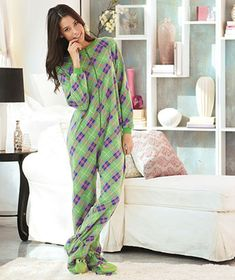 Women's Novelty Footed Pajamas for sister in law and mom