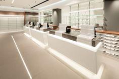 Alessia Silvestrelli · Farmacia San Giovanni Perfume Display, Pharmacy Design, Wellness Center, Store Design, Coffee Shop, Interior Design, Modern, Furniture, Shopping