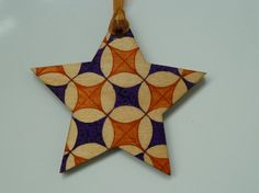 Christmas Ornament / decoration Hand Painted Wooden Star (can be personalised)