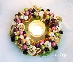 Kolorowe sny - wianek świąteczny (proj. Ladybug), do kupienia w DecoBazaar.com