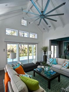 107 best big ass fans at home images on pinterest blankets hgtv smart home 2013 living room featuring the isis ceiling fan by big ass fans aloadofball