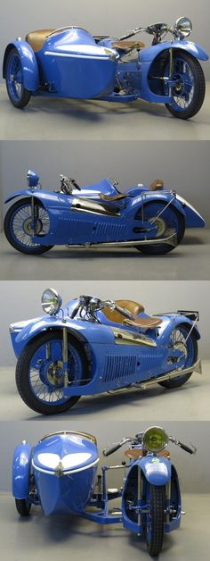 500cc 1930 Majestic #motorcycle with Bernardet sidecar at Yesterdays. Incredible!