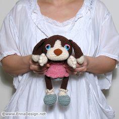 Crochet Amigurumi Dog Art Doll Toy with Cherry Cupcake by enna design, via Flickr