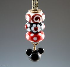 SALE Magical Stackable Necklace - Interchangeable Lampwork European Charm Beads, fits Pandora