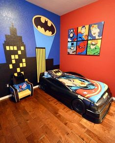 Awesome superhero room!Credit to @lanecrosnodesigns... - Home Decor For Kids And Interior Design Ideas for Children, Toddler Room Ideas For Boys And Girls