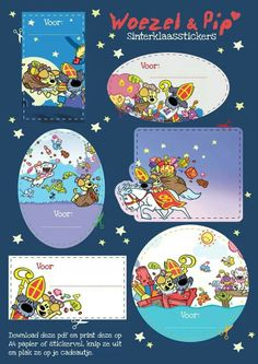 Woezel en pip December Daily, Holiday Crafts, Free Printables, Presents, Comics, Birthday, Pattern, Diy, Smile