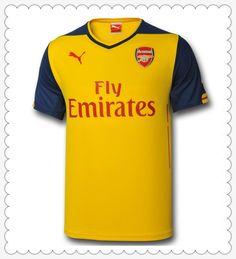 gefälschte Arsenal Away Gelb Und Blau Puma 2014 2015 Fussball Trikot Fanshop