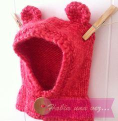 Gorro lana osito para bebés y niñas color sandía on Etsy, US$15,00