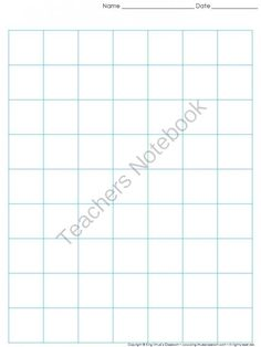 Graph Paper: Full Page Grid - 1 inch squares - 7x9 boxes - King Virtue from King Virtue on TeachersNotebook.com -  (1 page)  - Graph Paper: Full Page Grid - 1 inch squares - 7x9 boxes - King Virtue's Classroom  Never run out of graph paper again! Use this item to print grid paper for math, science, and other classroom activit