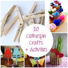 20 Clothespin Crafts and Activities for kids