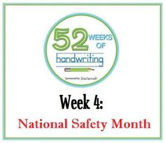 Startwrite's 52 Weeks of Handwriting: Week 4- National Safety Month and Stay Safe Links
