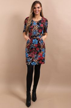 c8878ce86d Rosebrooke Black Floral Bodycon Dress. Virgo Boutique Fashion