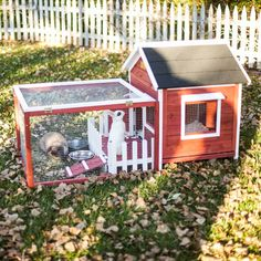 Tucker Murphy Pet Hector The White Picket Fence Rabbit Hutch Color: Auburn