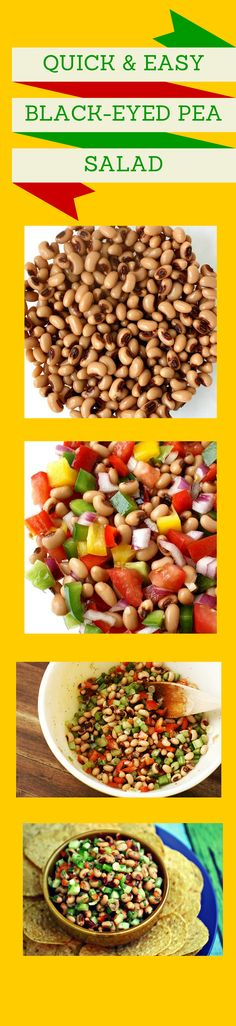 This healthy black eyed pea salad recipe is as colorful as it is delicious!  clean eats I healthy recipe I weight loss snack