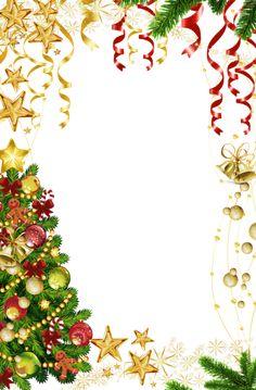 Transparent Christmas Photo Frame with Christmas Tree