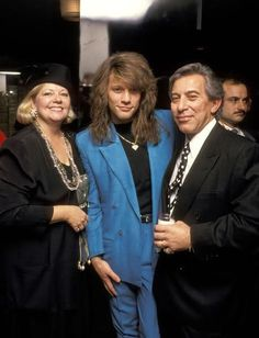 Jon with his mom and dad quite a few years ago. :-)