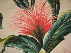 More of that gorgeous tropical vintage barkcloth!