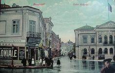 Calea Victoriei - vedere de la începutul secolului XX Capital Of Romania, Little Paris, Bucharest Romania, Photo Archive, Timeline Photos, World War Two, Old Photos, 19th Century, History