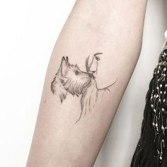 The most loyal animal, dog tattoo design – Kornelia Nowak Das treueste Tier, Hund Tattoo Design – Kornelia Nowak Small Dog Tattoos, Mini Tattoos, Body Art Tattoos, New Tattoos, Cool Tattoos, Tatoos, Tattoos Skull, Celtic Tattoos, Tatoo Dog