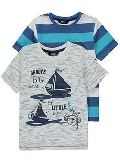 2 Pack Assorted T-shirts, read reviews and buy online at George at ASDA. Shop from our latest range in Kids. Ahoy there! Uplift their casual…