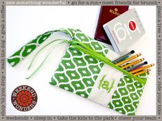 Colorful, Zippered Pencil Cases: Weekend Wonders Returns with Fabric.com