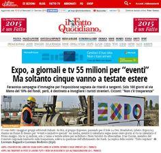 """A 100 giorni esatti dall'Expo2015, #ExpoLeaks pubblica su ilfattoquotidiano.it una nuova inchiesta sui finanziamenti ai media. Un caso tra tutti: """"La Rai porta a casa 5 milioni di euro per costruire una piattaforma dedicata all'esposizione: RaiExpo, nota più per avere una squadra di 47 giornalisti a Roma, che per i contenuti"""".  Aiutaci a sostenere il loro lavoro: fai una donazione su https://kriticalmass.com/p/expoleaks"""