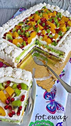 Kiwi Cake, Fresh Fruit Cake, Baking Recipes, Cake Recipes, Dessert Recipes, Jamaican Recipes, Health Desserts, Vintage Recipes, Creative Food