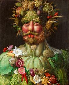 "Giuseppe Arcimboldo : ""Rudolf II as Vertumnus"" - Giclee Fine Art Print by Renfields on Etsy https://www.etsy.com/listing/119552602/giuseppe-arcimboldo-rudolf-ii-as"