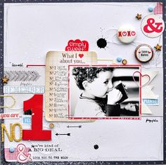 #papercraft #scrapbook #layout.   ** Chic Tags- delightful paper tag **: challenge sundays