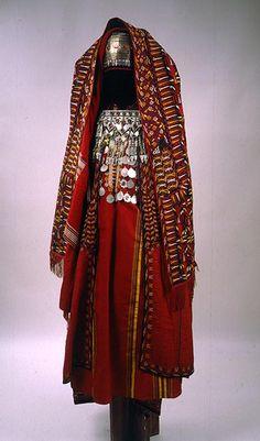Woman's сostume.Turkmen. Caspian region. | Early 20th century || Russian Museum of Ethnography