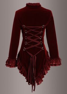 Victorian Style Clothing, Modern Victorian Fashion, Victorian Outfits, Victorian Corset, Victorian Steampunk, Latex, Fall Fashion Outfits, Red Outfits, Corset Outfit