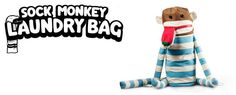 At last, a fun laundry bag that encourages the messiest kids to pick up their dirty laundry. Playful design by SUCK UK