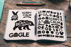 Script Calm + Extras on Behance
