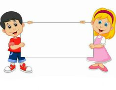 Cartoon Boy and girl holding blank sign Royalty Free Vector School Cartoon, Cartoon Boy, Cartoon Memes, Cartoon Characters, Preschool Classroom, Preschool Activities, Creative Writing For Kids, School Board Decoration, Powerpoint Background Design
