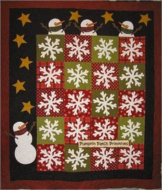 Flakey Friends - this would a perfect project for the Accuquilt Snowflake die... with circles, stars and the Holiday Accessories. Would be a piece of cake to cut!