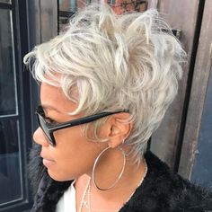 African-American Messy Ashy Pixie
