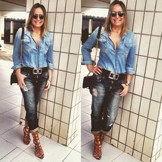 Look do dia All jeans! #estiloandreafialho #loucaporjeans