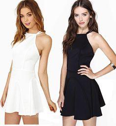 Black or White War. Dress Link, Dress P, Party Dress, Beautiful Dresses, Backless, Sexy Women, My Style, Mini, Black