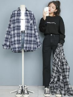 Korean Girl Fashion, Korean Fashion Summer, Korean Street Fashion, Ulzzang Fashion, Korea Fashion, Cute Fashion, Asian Fashion, Curvy Girl Outfits, Kpop Fashion Outfits