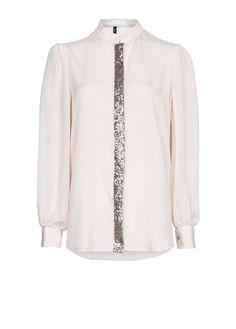 MANGO - Sequined sheer blouse