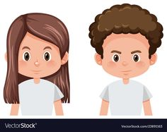 Set of male and female hairstyle Royalty Free Vector Image Kids Vector, Free Vector Images, Vector Free, Creative Poster Design, Creative Posters, Hair Vector, Aesthetic Gif, Single Image, Nagel Blog