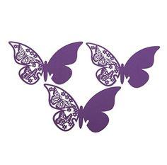 Vakind® 50 mariposa tarjeta de copa de papel para bodas y Bar (púrpura) Vakind http://www.amazon.es/dp/B00XZWE1FK/ref=cm_sw_r_pi_dp_6hmBvb00Q9TFS
