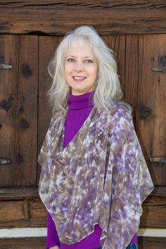 Hand-Painted Silk Shoulder Caplets | Distinctly Montana