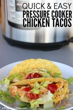 Looking for easy pressure cooker recipes? You are going to love this quick and easy Healthy Chicken Tacos Pressure Cooker Recipe.
