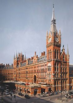 St Pancras Hotel in London.