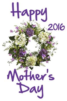 """""""WREATH: Happy Mother's Day 2016"""" by mandimwpink ❤ liked on Polyvore featuring art and wreath"""