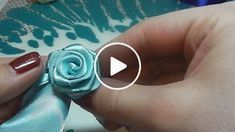 Best 12 How to make a rose from satin ribbon Hand Embroidery Flower Designs, Ribbon Embroidery Tutorial, Ribbon Flower Tutorial, Silk Ribbon Embroidery, Diy Embroidery, Flower Patterns, Satin Ribbon Flowers, Cloth Flowers, Fabric Flowers