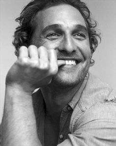 Matthew McConaughey aka my first man crush. His voice, his face...just everything