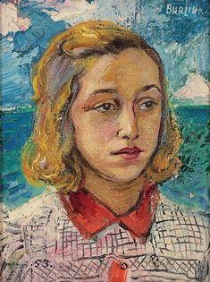 Portrait of a young woman, David Burliuk Size: cm Medium: oil on canvas Portraits, Portrait Art, Portrait Paintings, Henri Matisse, Pablo Picasso, Vincent Van Gogh, Post Impressionism, Art Database, Face Art